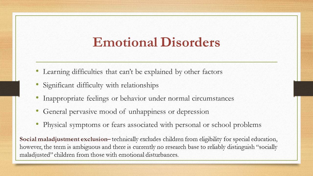spe 226 emotional behavioral and physical disabilities Running head: challenges of teaching students with ebd 1 challenges of teaching students with ebd kimbrely ross spe 558/gcu july 1, 2013 running head: challenges of teaching students with ebd 2 introduction this paper will define and review emotional behavioral disabilities.