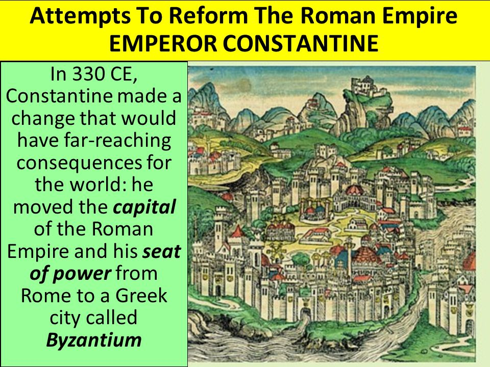 transformation of rome to an empire At its height, the roman empire stretched from north-western europe to the near  east  a major transformation of the rural landscape was brought about by the.