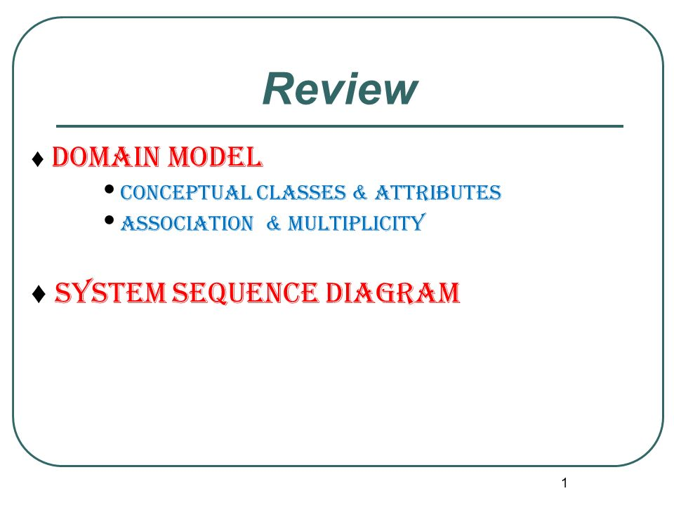 Review system sequence diagram domain model ppt video online review system sequence diagram domain model ccuart Gallery