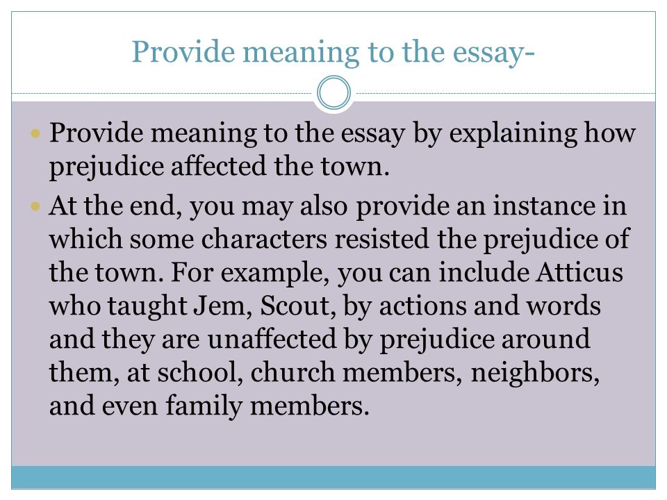 To Kill A Mockingbird Essays On Prejudice