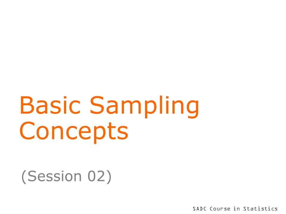 Basic Sampling Concepts