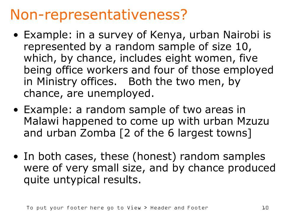 Non-representativeness
