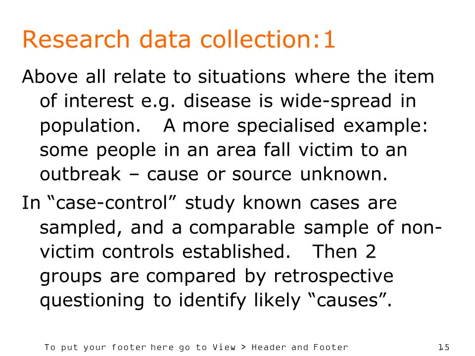 Research data collection:1