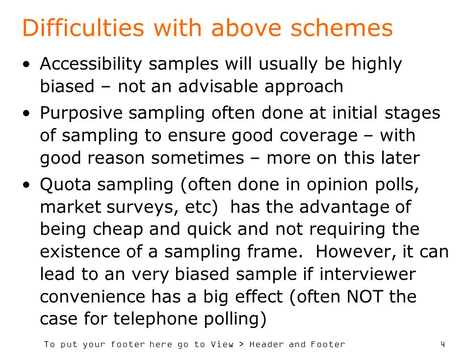 Difficulties with above schemes