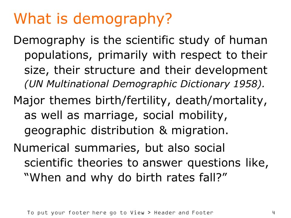 What is demography