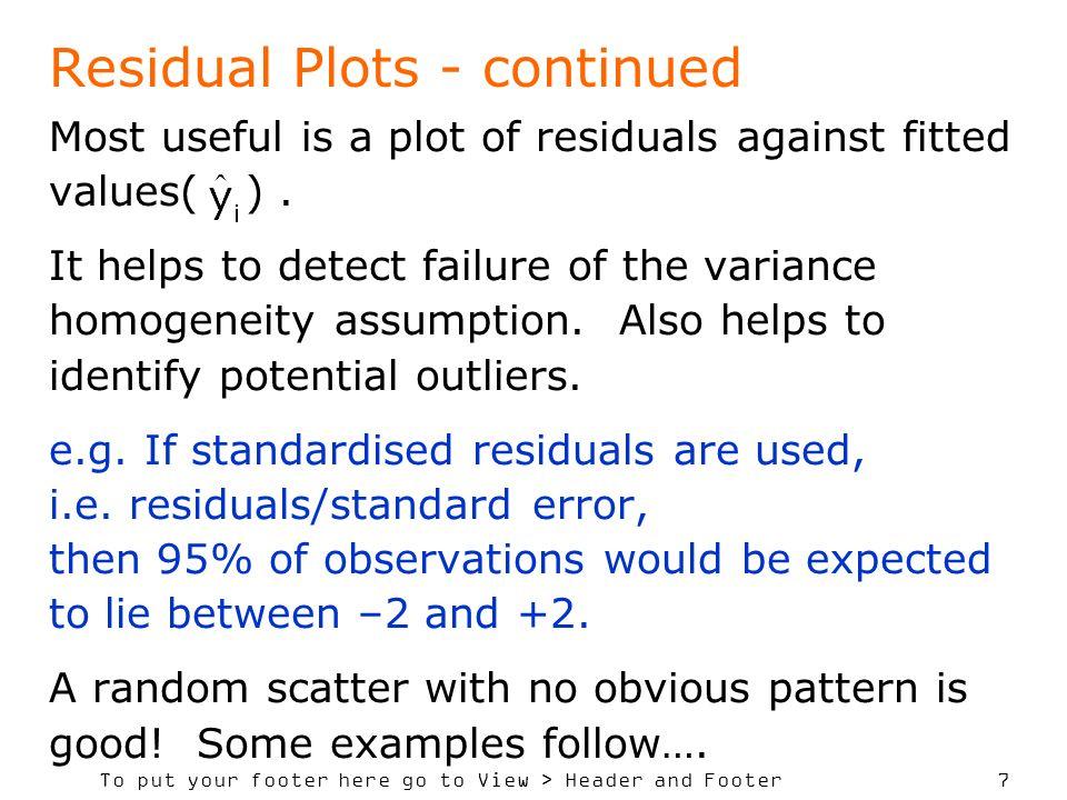 Residual Plots - continued
