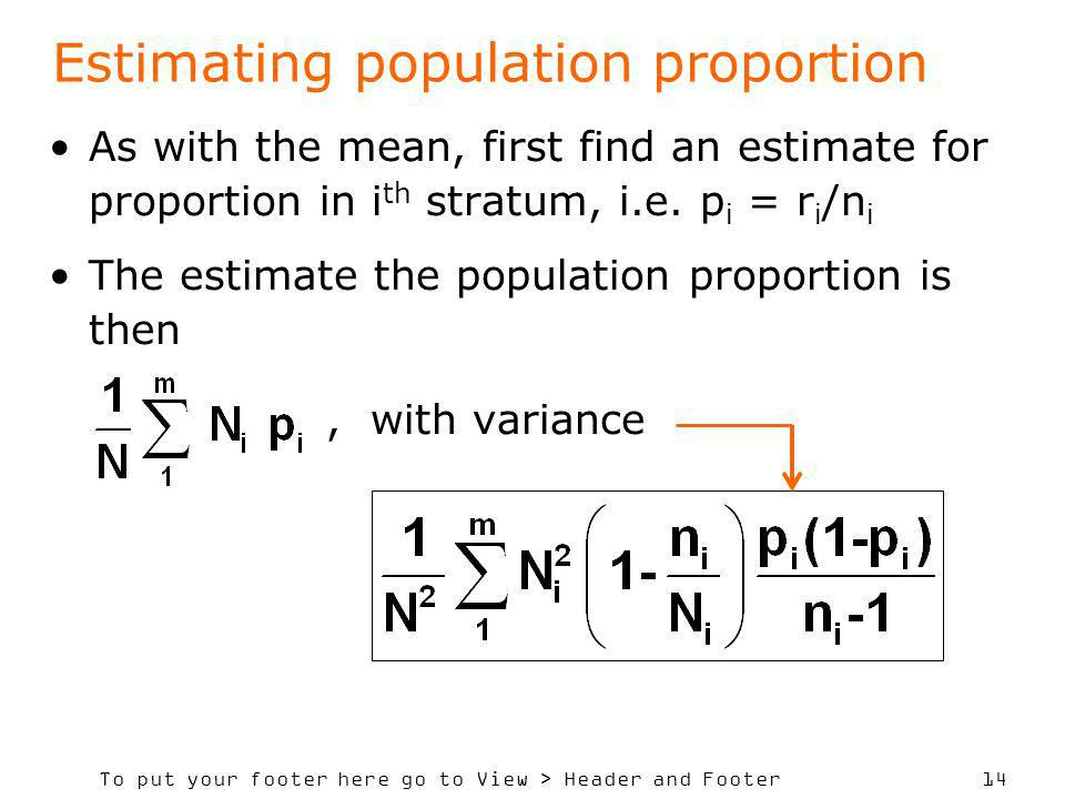 Estimating population proportion