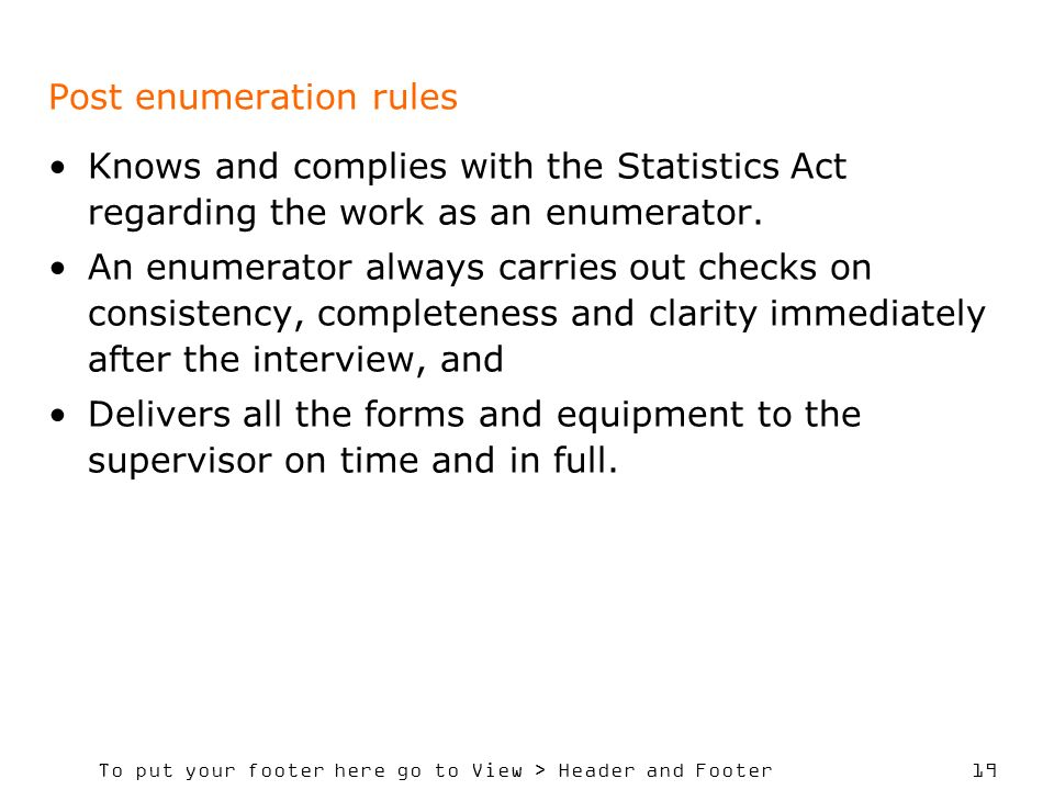 Post enumeration rules