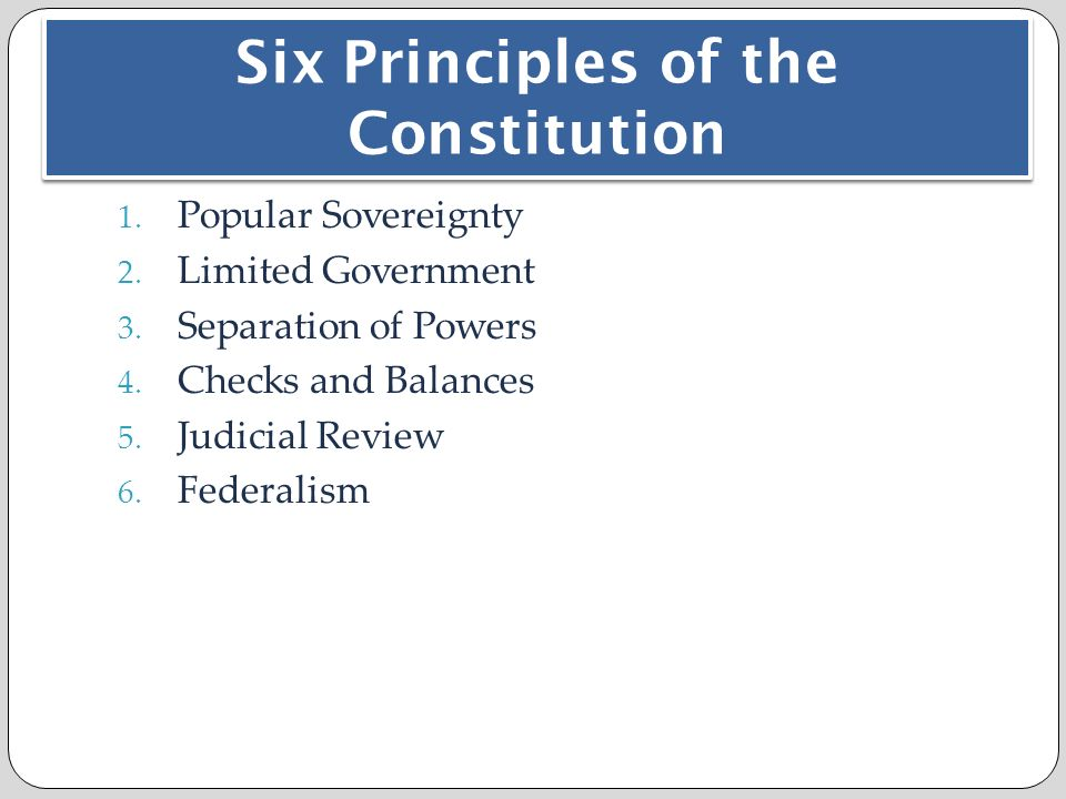 Chapter 3: The Constitution - ppt download