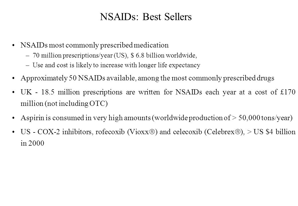 the role of nsaids in the