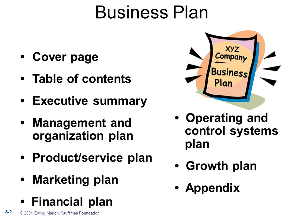 contents of a marketing plan pdf