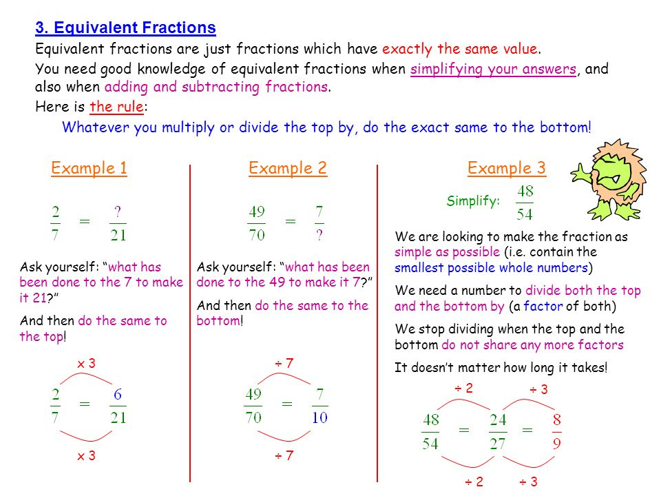 Equivalent Fractions and Simplifying Fractions Guided Notes | TpT
