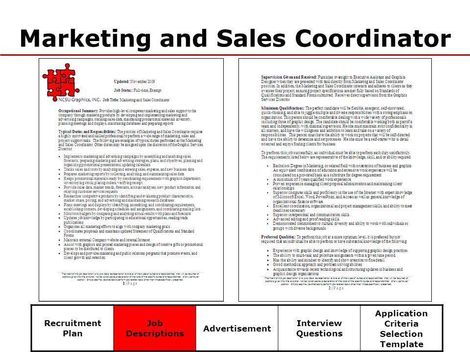 Sales Marketing Coordinator Job Description – Sales Coordinator Job Description