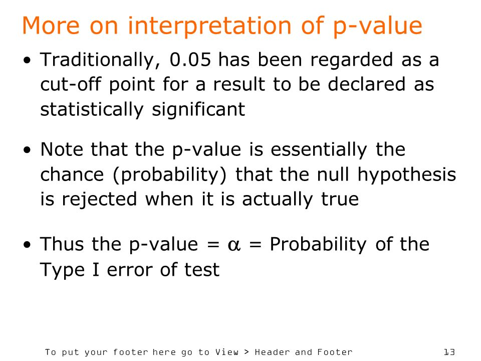 More on interpretation of p-value