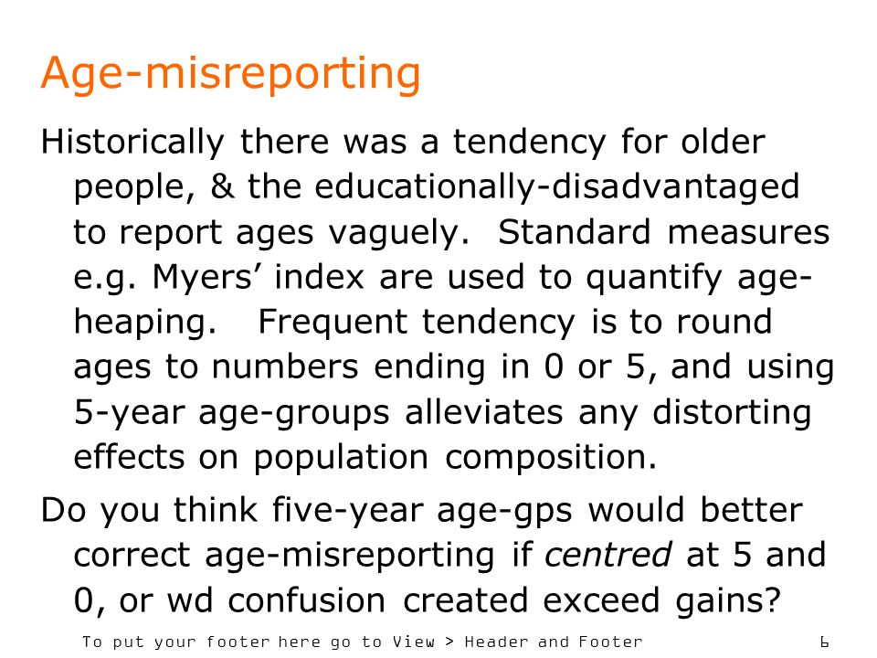 Age-misreporting