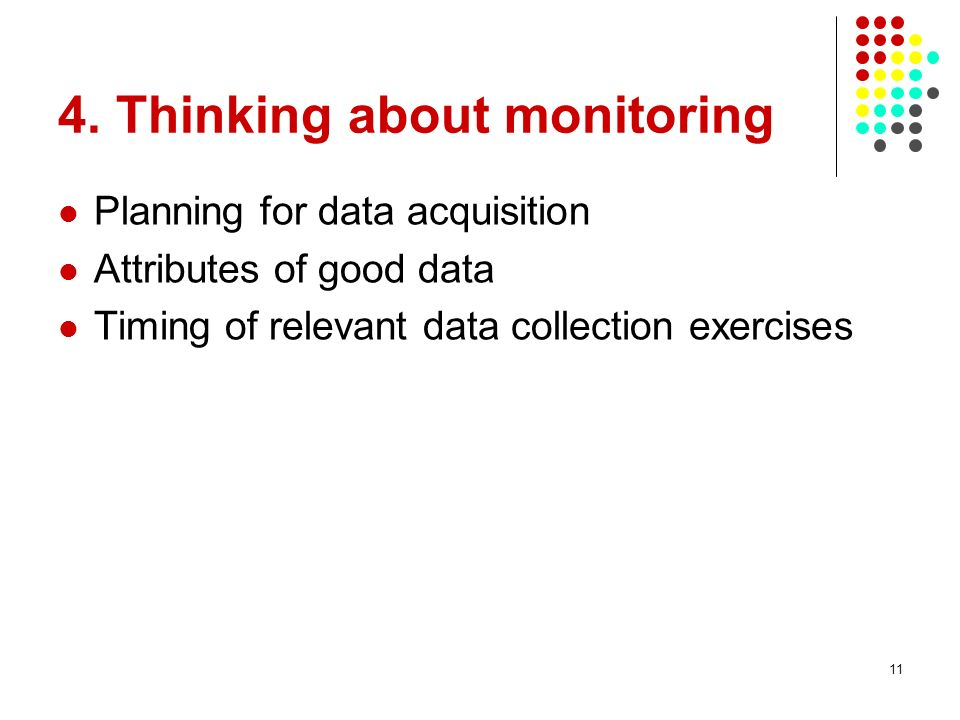 4. Thinking about monitoring