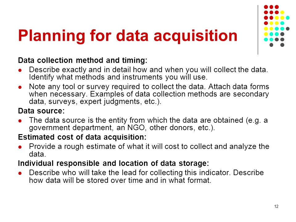 Planning for data acquisition