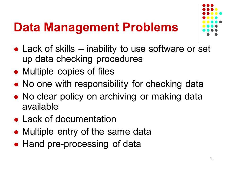 Data Management Problems