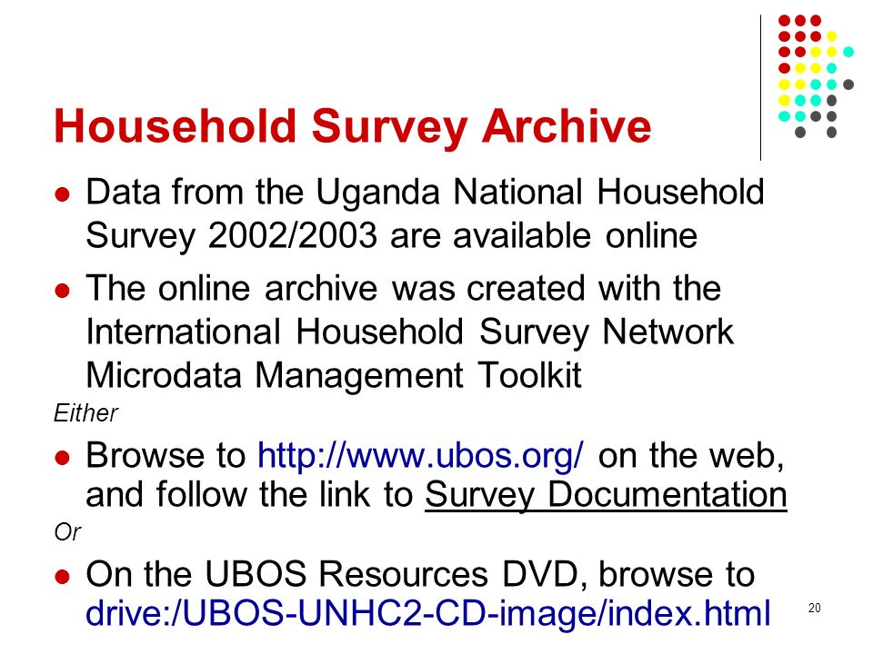 Household Survey Archive