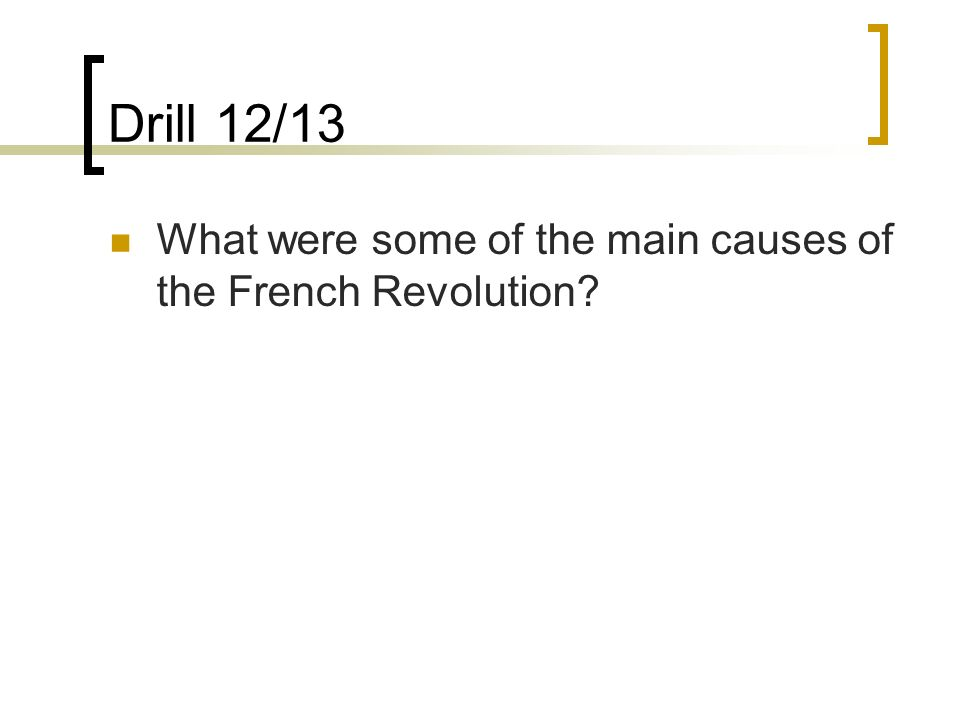 major causes of french revolution