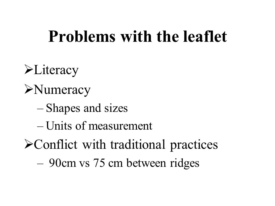 Problems with the leaflet