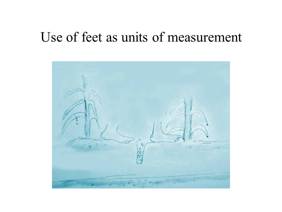 Use of feet as units of measurement