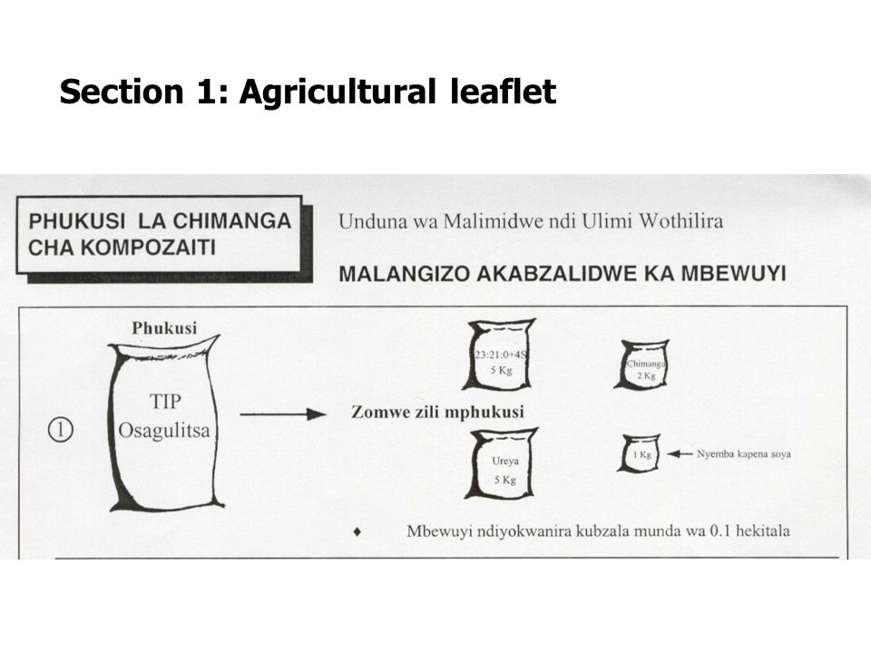Section 1: Agricultural leaflet