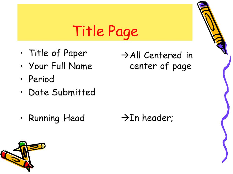 header for research paper