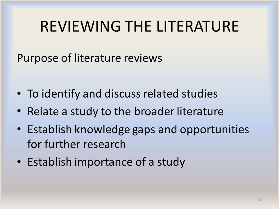 The Importance of Literature Review in Research Writing