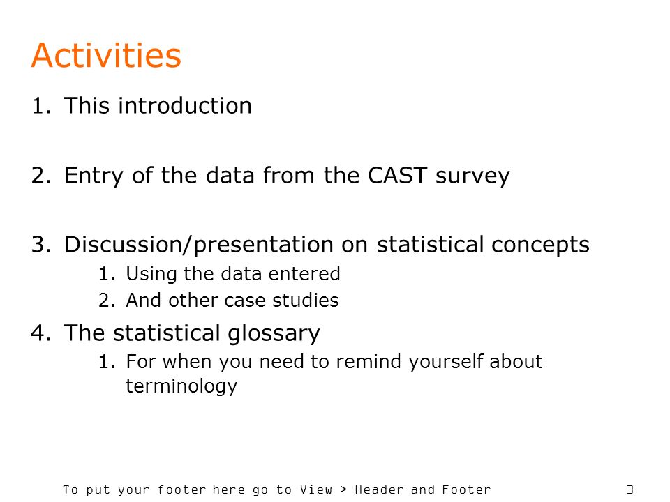 SADC Course in Statistics