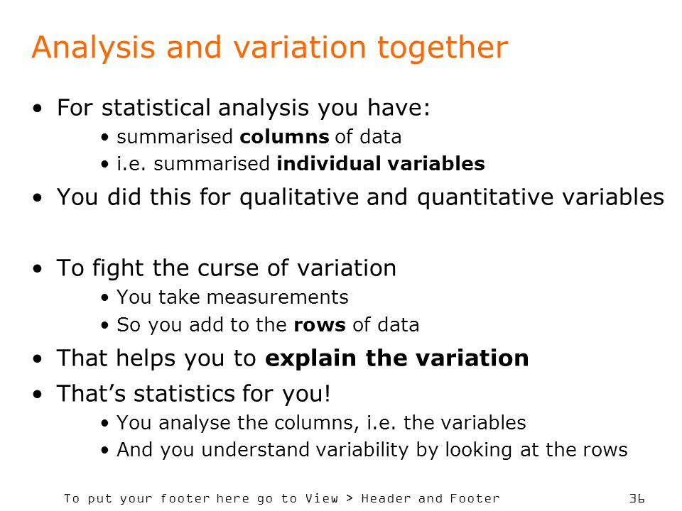 Analysis and variation together
