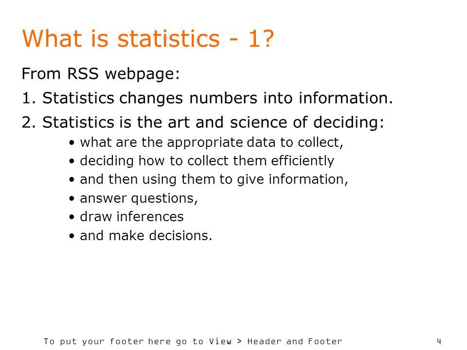 SADC Course in Statistics