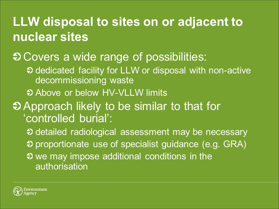 LLW disposal to sites on or adjacent to nuclear sites