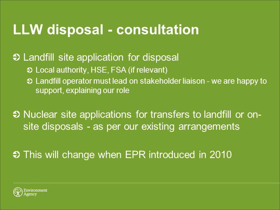 LLW disposal - consultation