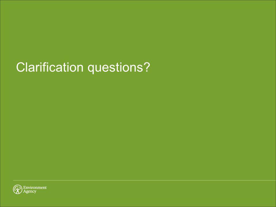 Clarification questions