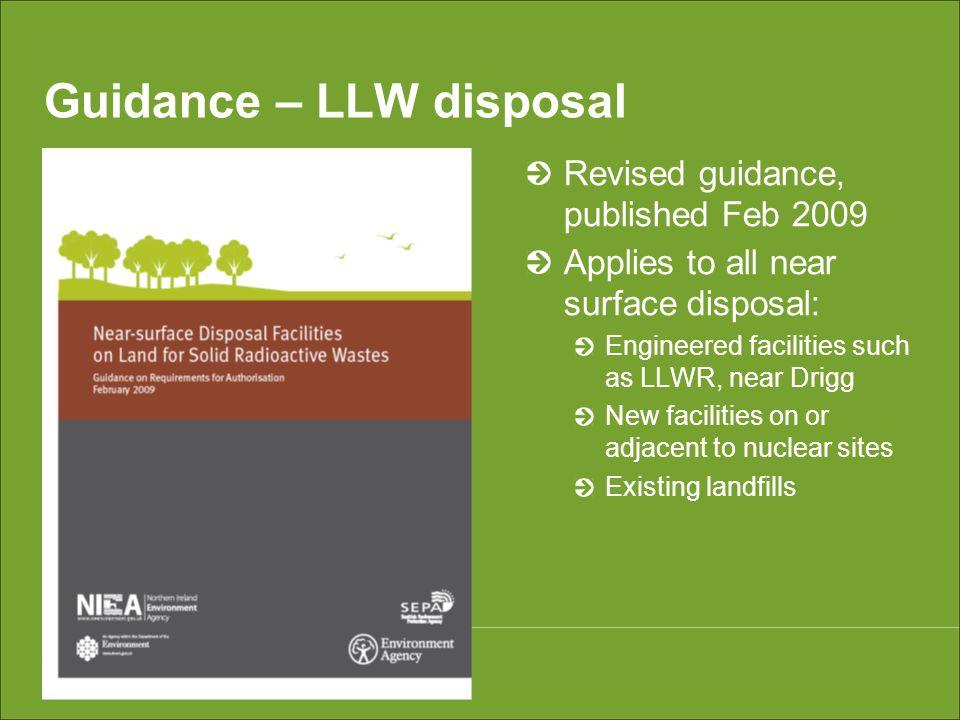 Guidance – LLW disposal