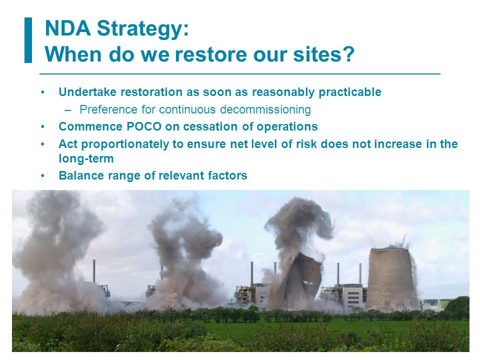 NDA Strategy: When do we restore our sites