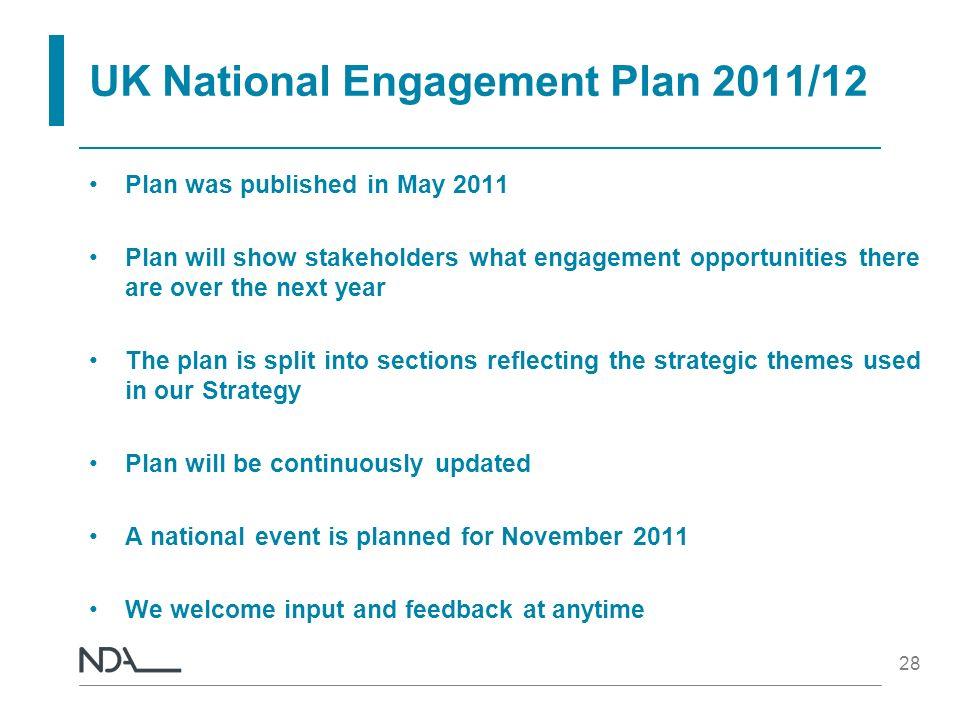UK National Engagement Plan 2011/12