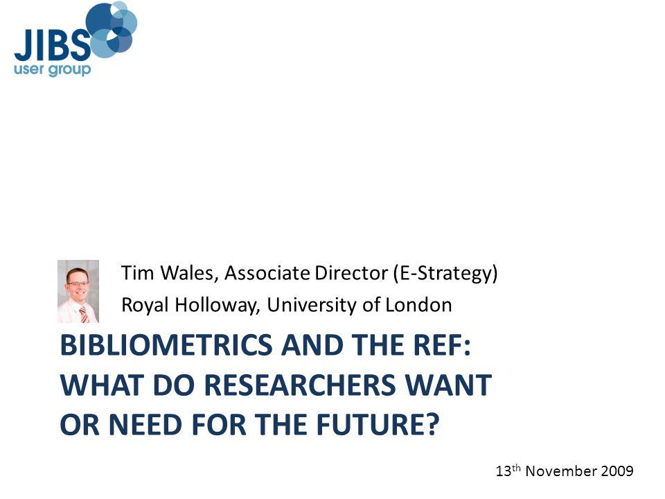 Tim Wales, Associate Director (E-Strategy)
