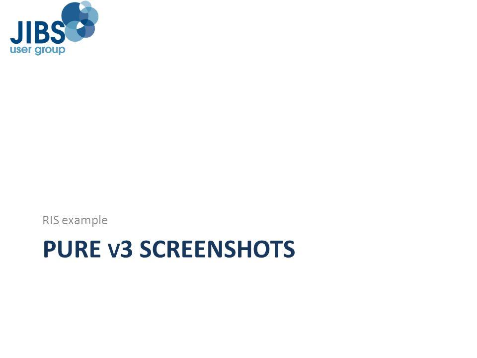 RIS example PURE v3 screenshots