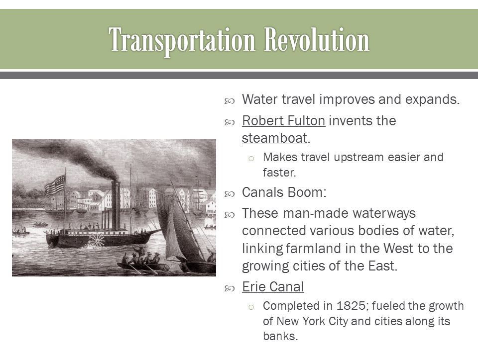 What is the definition of the Transportation Revolution?