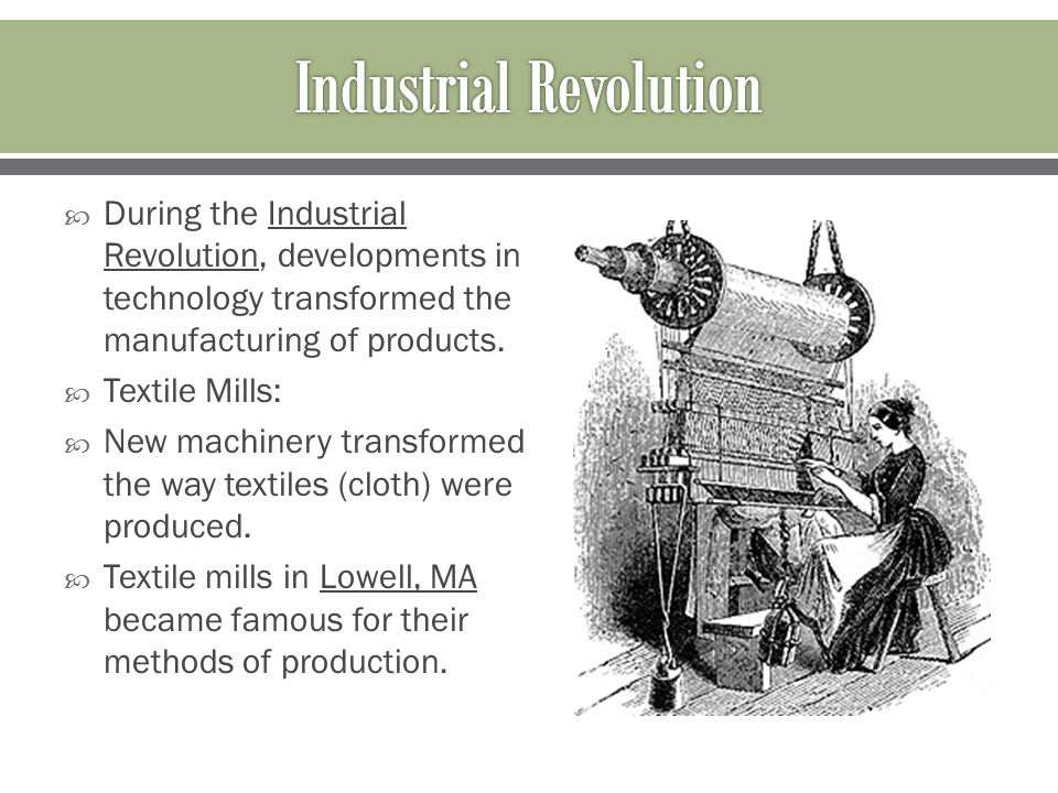 the production of goods during the industrial revolution Start studying the industrial revolution the process of developing machine production of goods happened in europe during the industrial revolution.