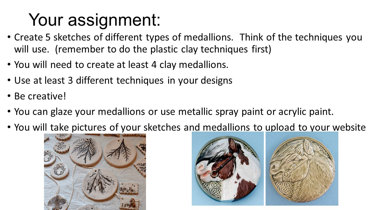 Ceramic Texture Medallions - ppt video online download