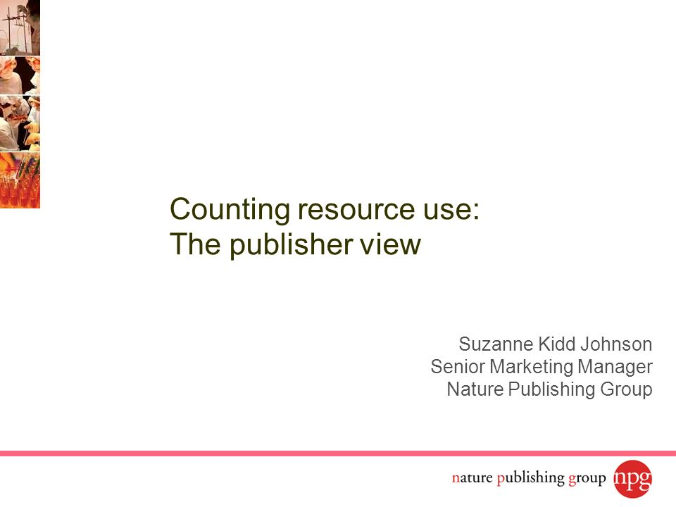Counting resource use: The publisher view