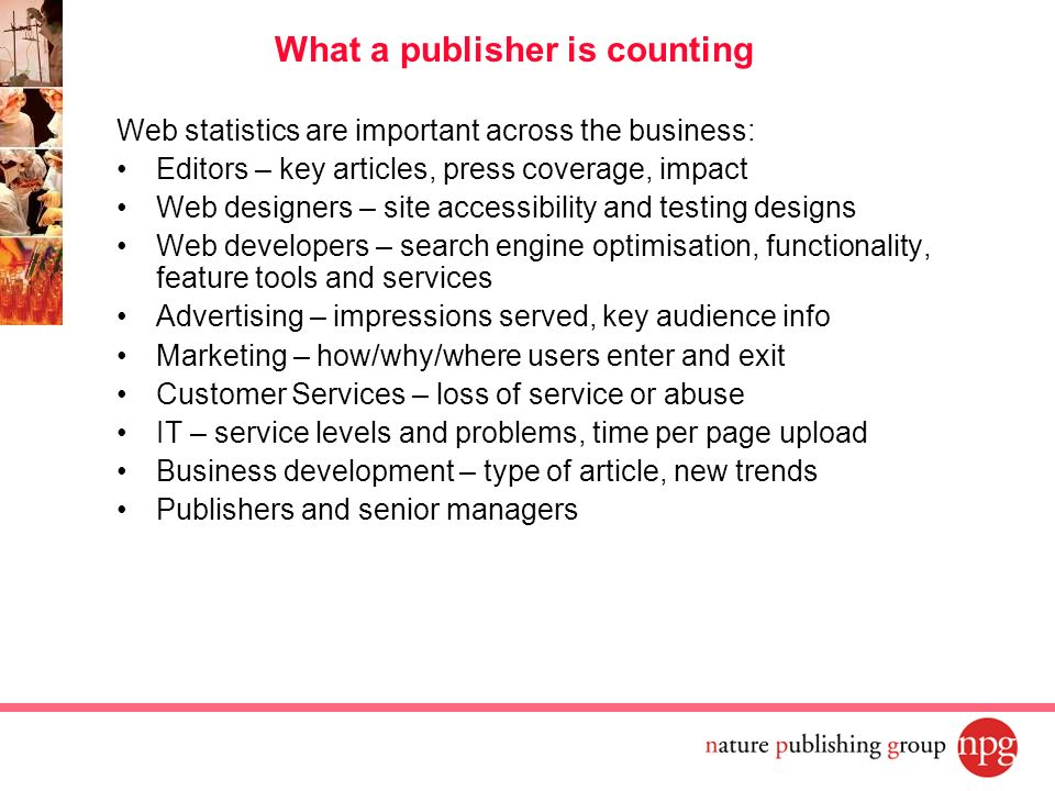 What a publisher is counting