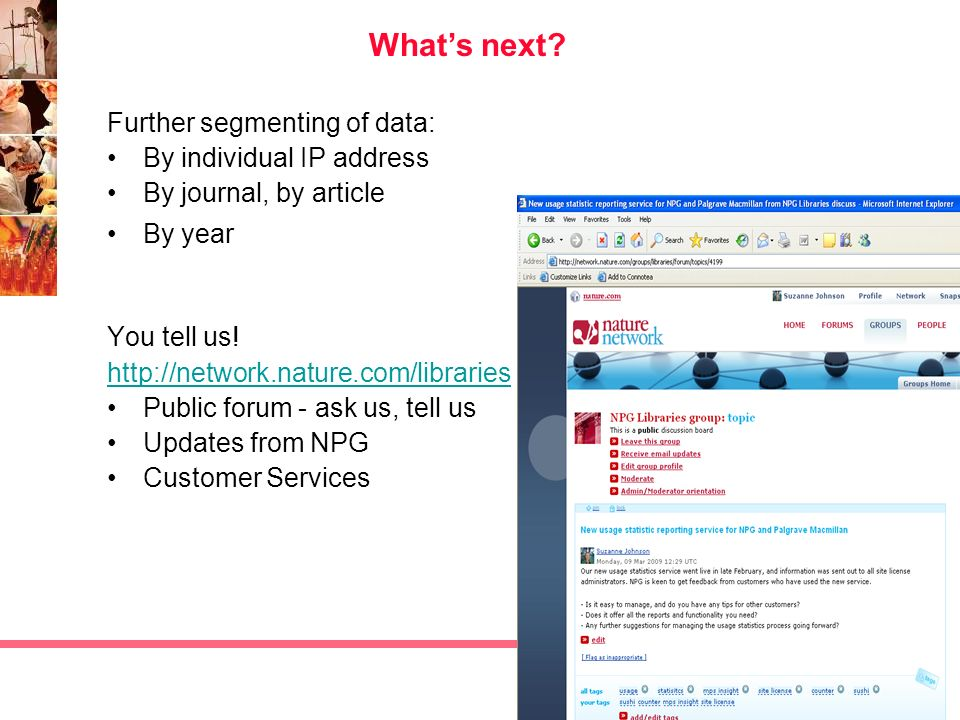 What's next Further segmenting of data: By individual IP address