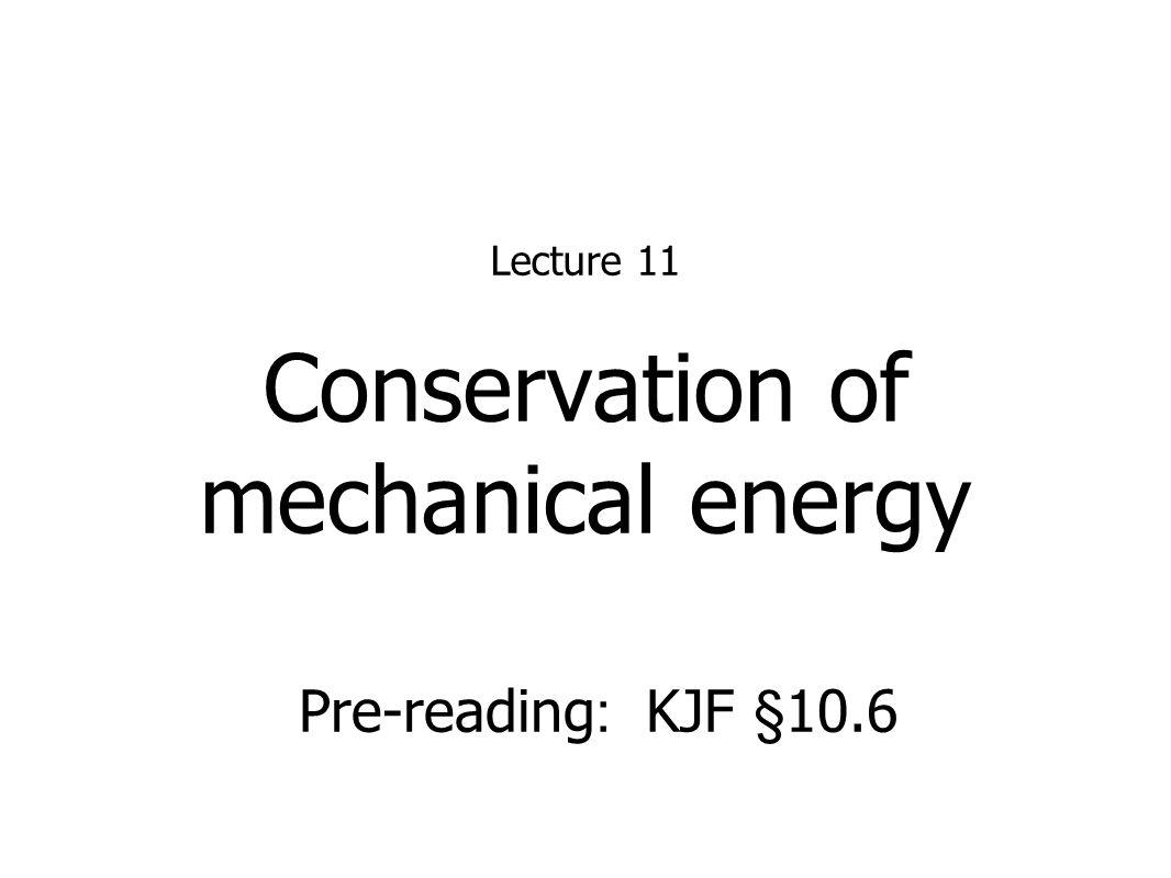 mechanical energy report