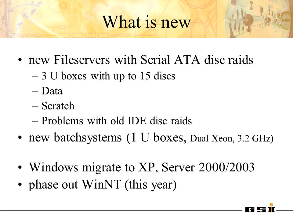 What is new new Fileservers with Serial ATA disc raids