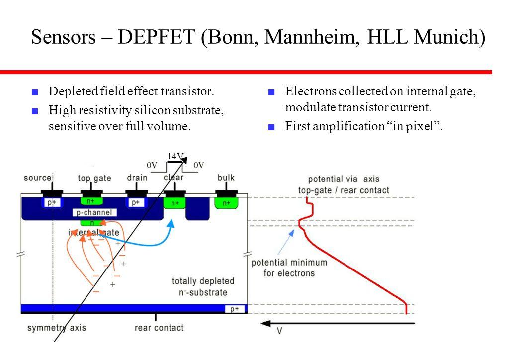 Sensors – DEPFET (Bonn, Mannheim, HLL Munich)