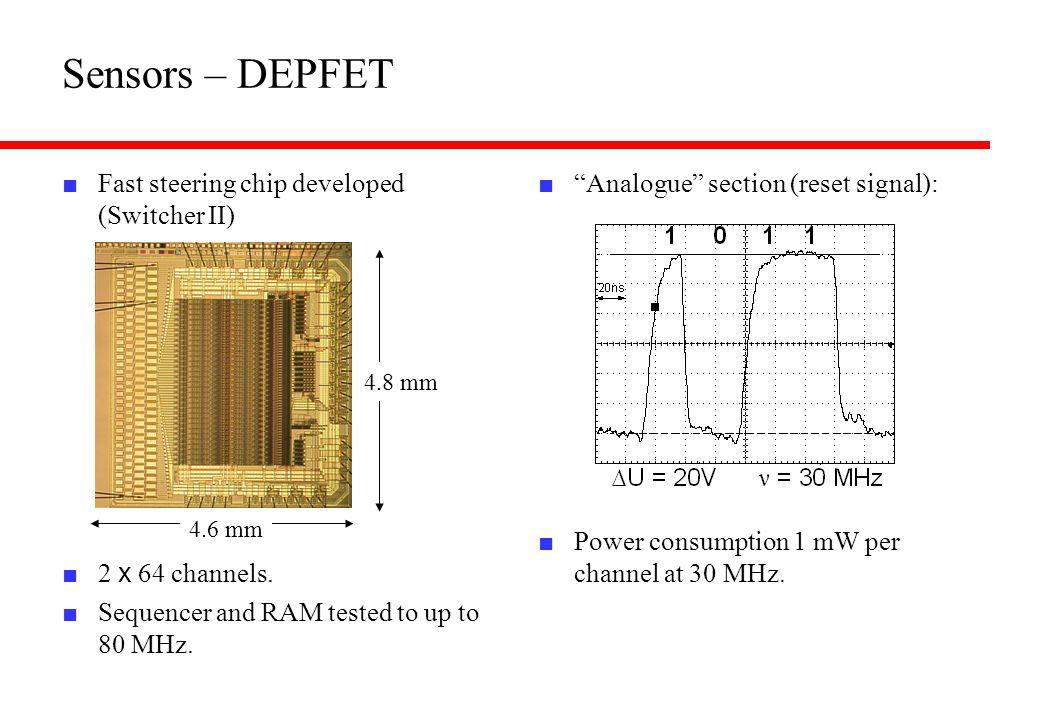 Sensors – DEPFET Fast steering chip developed (Switcher II)